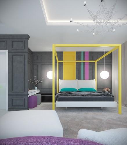 Căn hộ 2 phòng ngủ được xử lý màu sắc khéo léo - Ảnh 6.