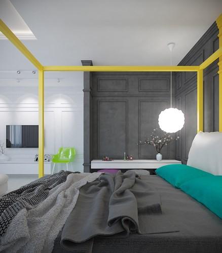 Căn hộ 2 phòng ngủ được xử lý màu sắc khéo léo - Ảnh 7.