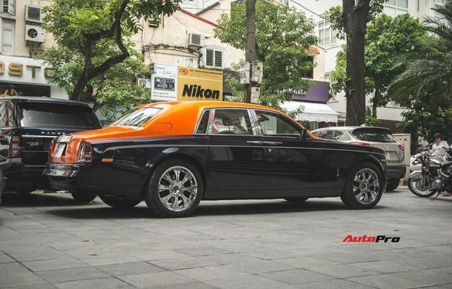 Chiếc Rolls-Royce Phantom tại Hà Nội đổi màu nhanh như tắc kè: Vừa hết tím mộng mơ lại đến cam cá tính - Ảnh 6.