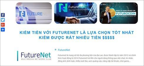 FutureNet có dấu hiệu kinh doanh đa cấp trái phép - Ảnh 1.