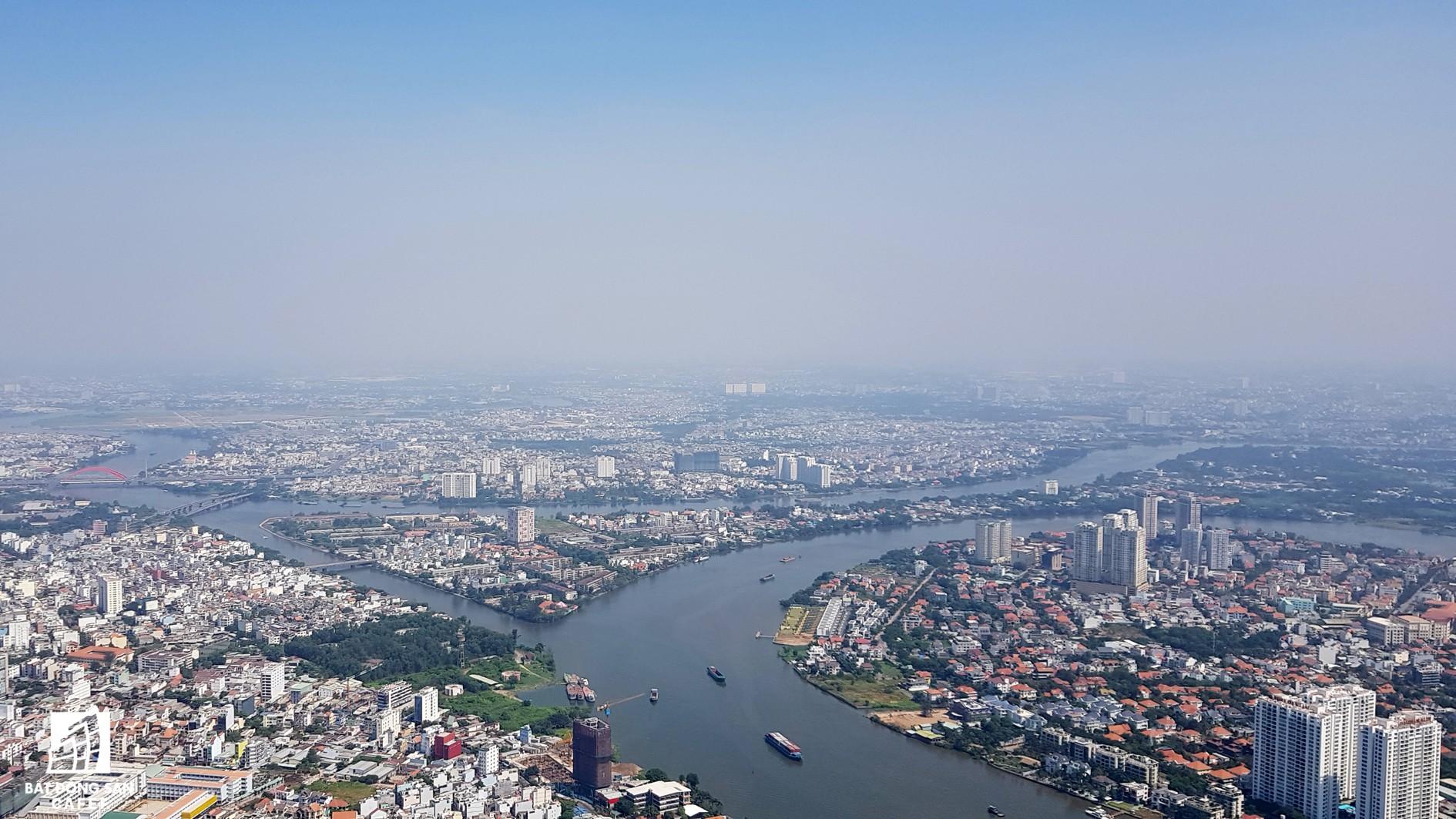 Toàn cảnh đô thị trung tâm Sài Gòn nhìn từ đỉnh tòa nhà cao nhất Việt Nam - Ảnh 9.