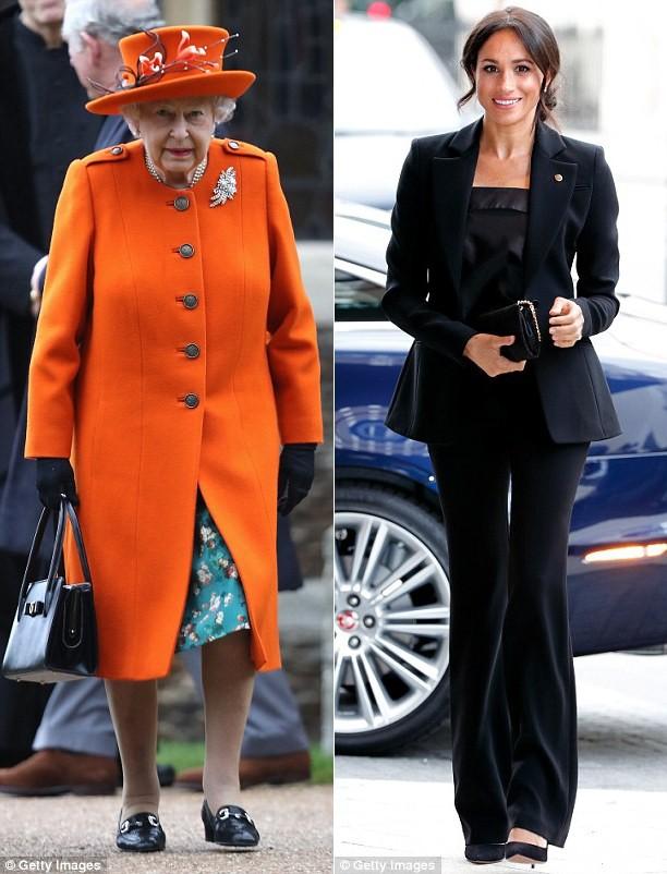 Chỉ mặc đúng một kiểu suốt mấy chục năm, Nữ hoàng Anh vẫn được nhận xét là có style xuất sắc hơn hẳn Công nương Meghan - Ảnh 2.