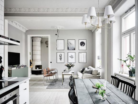 Căn hộ trắng đẹp đến từng milimet với phong cách Scandinavia - Ảnh 1.