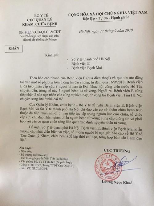 Vụ 7 người chết sau lễ hội âm nhạc ở Hà Nội: Bộ Y tế chỉ đạo tập trung cứu chữa - Ảnh 1.