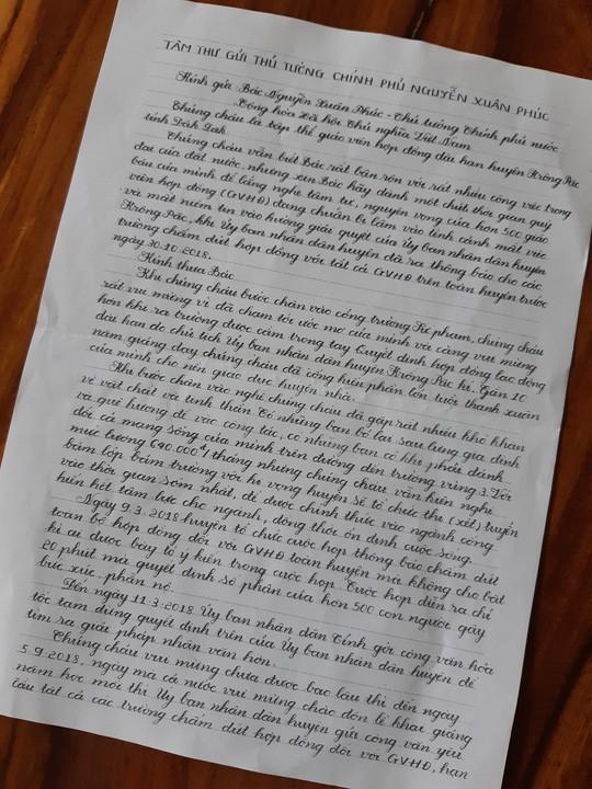 Bức tâm thư đẫm nước mắt gửi Thủ tướng của 500 giáo viên mất việc - Ảnh 2.