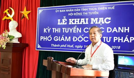 Huế tổ chức thi tuyển Phó Ban Nội chính Tỉnh ủy - Ảnh 1.