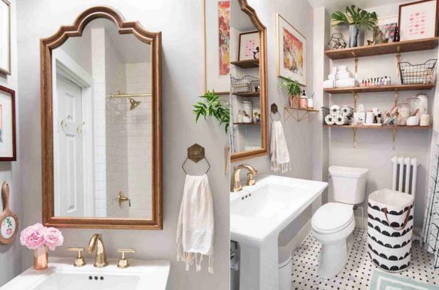 Phòng tắm chật hẹp sẽ rộng không ngờ nhờ một số mẹo dễ làm này - Ảnh 1.