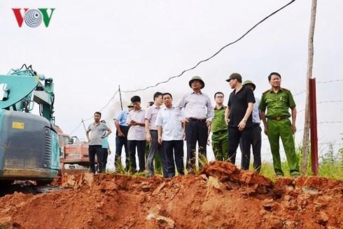 Khẩn trương khắc phục sự cố vỡ bờ đập bãi thải Nhà máy DAP Lào Cai - Ảnh 4.