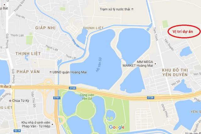 Gelexia Riverside tọa lạc trên trục đường Tam Trinh mở rộng.
