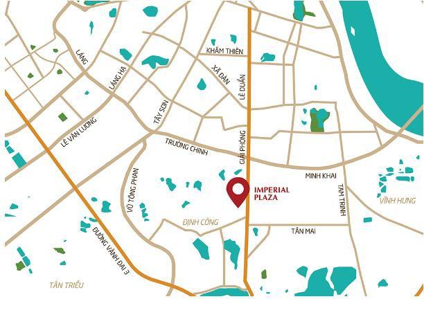 Dự án Imperial Plaza tọa lạc tại số 360 đường Giải Phóng (Hà Nội).