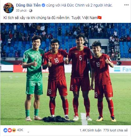 Cầu thủ Việt Nam tự hào: Kỳ tích sẽ xảy ra khi chúng ta đủ niềm tin - Ảnh 1.