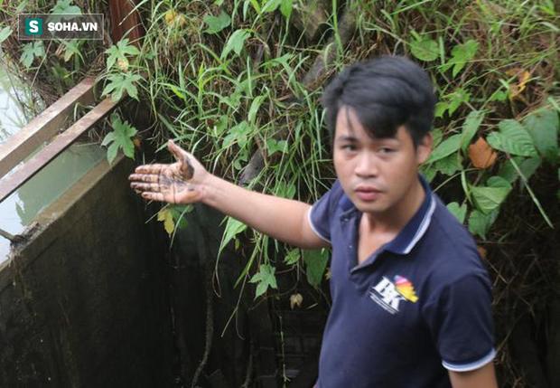 Nhân chứng kể việc phát hiện dầu thải đổ trộm xuống suối đầu nguồn nhà máy nước sông Đà - Ảnh 2.