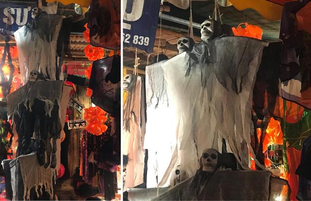 Sôi động thị trường đồ chơi Halloween, phù thủy, siêu nhân nhí xuất hiện - Ảnh 2.