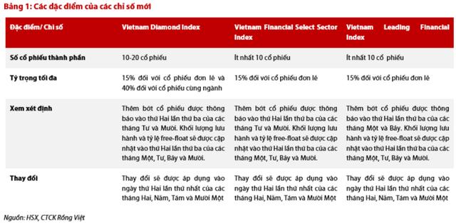 Ngày 18/11, HoSE chính thức triển khai 3 chỉ số Vietnam Diamond, Vietnam Financial Select và Vietnam Leading Financial - Ảnh 1.