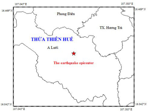 Động đất 3,3 độ richter trong đêm gây rung lắc ở huyện miền núi Thừa Thiên - Huế - Ảnh 1.