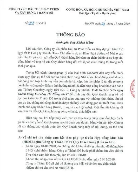 TS. Nguyễn Trí Hiếu: Cocobay Đà Nẵng đơn phương hủy cam kết 12% là không hợp pháp - Ảnh 2.