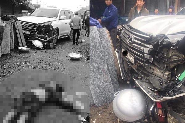 Xe Lexus ngũ quý 7 tông chết 1 phụ nữ ở Hà Nội - Ảnh 1.