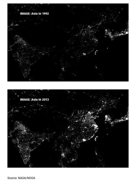 Góc kinh tế học: Ánh đèn đêm có thể tiết lộ gì về kinh tế của một quốc gia? - Ảnh 1.