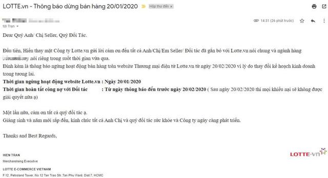 Trang thương mại điện tử Lotte.vn dừng hoạt động từ 20/1/2020? - Ảnh 1.