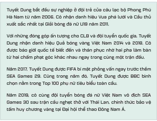 """Tuyết Dung - cô gái """"vàng"""" ôm giấc mơ World Cup của tuyển nữ Việt Nam: """"Đã lên sân là chiến đấu quên mình rồi!"""" - Ảnh 1."""