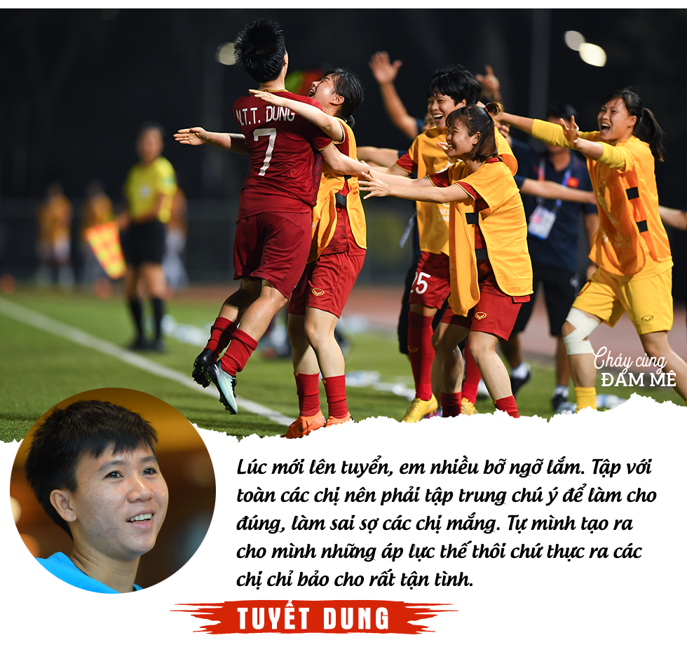 """Tuyết Dung - cô gái """"vàng"""" ôm giấc mơ World Cup của tuyển nữ Việt Nam: """"Đã lên sân là chiến đấu quên mình rồi!"""" - Ảnh 6."""