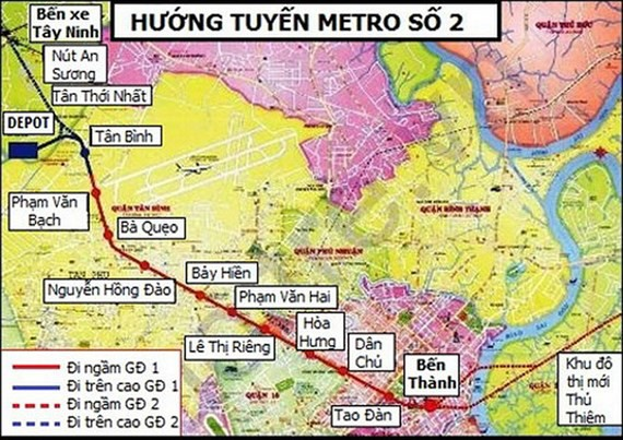 TP.HCM: Thúc tiến độ thực hiện bồi thường giải phóng mặt bằng tuyến metro số 2 Bến Thành - Tham Lương - Ảnh 1.