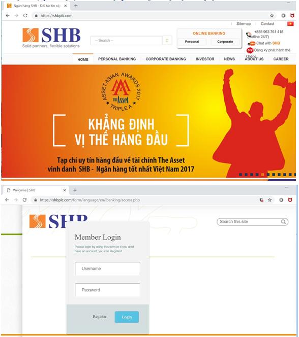 Ngân hàng cảnh báo thủ đoạn giả mạo website để lừa khách hàng ngân hàng - Ảnh 2.