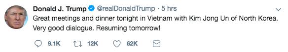 Nhà Trắng đăng tải loạt khoảnh khắc đẹp trong ngày đầu Hội nghị thượng đỉnh Mỹ - Triều tại Việt Nam - Ảnh 2.
