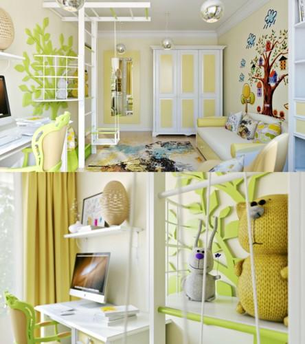 Cách thiết kế phòng ngủ tươi sáng và ngập tràn sắc màu cho trẻ - Ảnh 1.