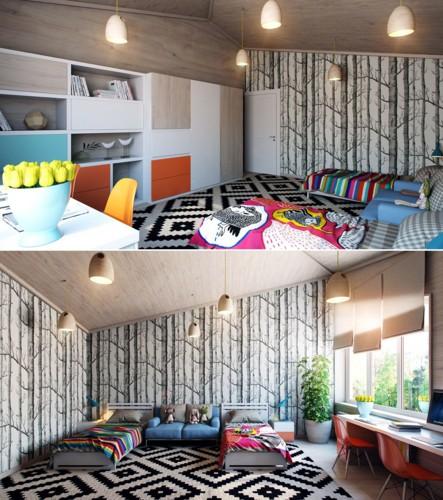 Cách thiết kế phòng ngủ tươi sáng và ngập tràn sắc màu cho trẻ - Ảnh 5.