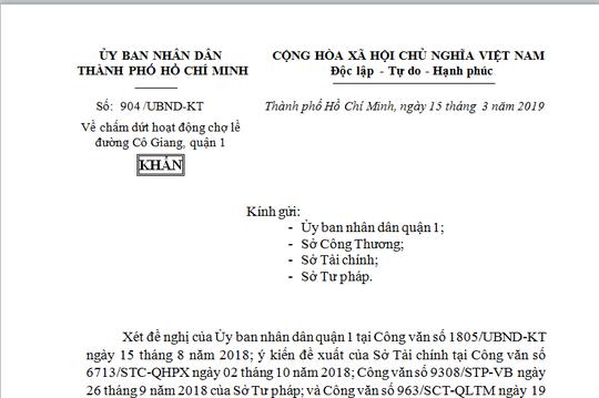 TPHCM ra công văn khẩn, xóa chợ tạm Cô Giang  - Ảnh 1.