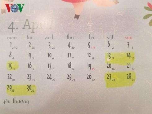 Lịch nghỉ lễ Giỗ tổ Hùng vương, 30/4, mùng 1/5 của người lao động - Ảnh 1.