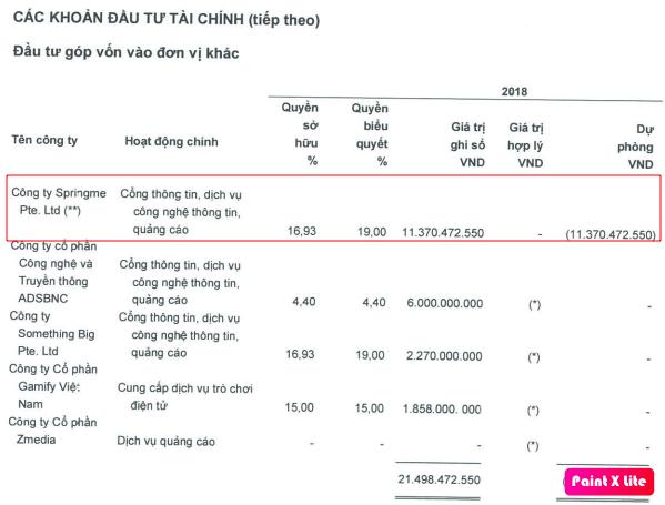 Trích lập dự phòng 100% cho Springme Pte Ltd, Yeah1 điều chỉnh giảm 17 tỷ đồng lợi nhuận 2018 - Ảnh 1.