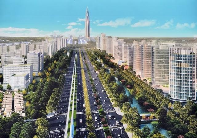 Loạt tòa tháp chọc trời dồn dập đổ bộ, biến nơi đây thành trung tâm tài chính - thương mại mới của Hà Nội - Ảnh 6.
