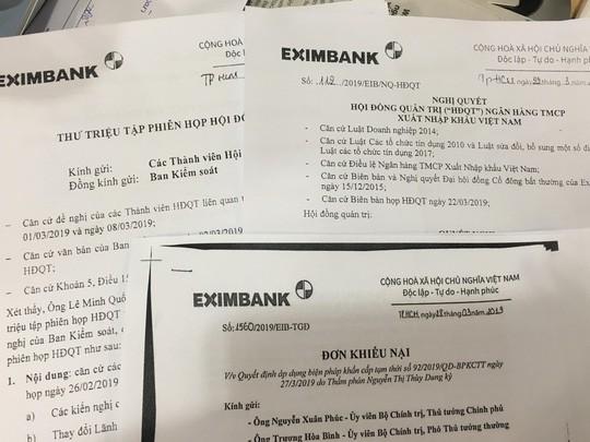 Eximbank khiếu nại chọn lọc của tòa án liên quan vụ bầu chủ tịch HĐQT mới - Ảnh 1.