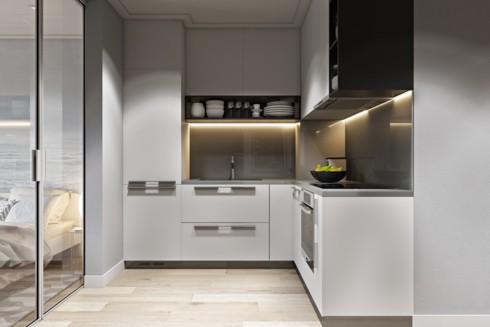 Mẫu tủ bếp đẹp cho căn hộ chung cư - Ảnh 1.