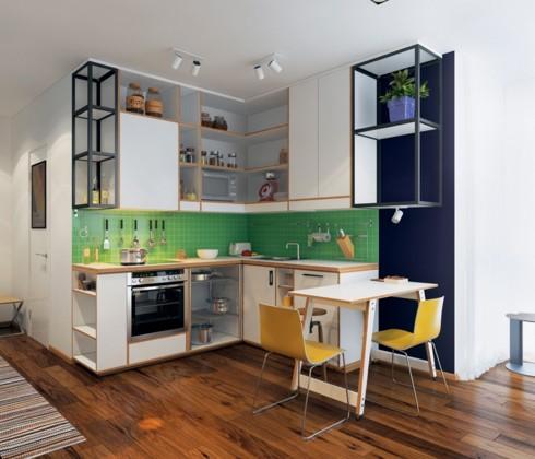 Mẫu tủ bếp đẹp cho căn hộ chung cư - Ảnh 11.
