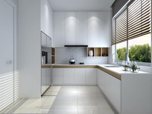 Mẫu tủ bếp đẹp cho căn hộ chung cư - Ảnh 4.