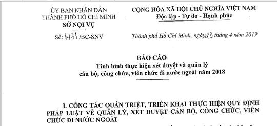 Một cán bộ Tổng Công ty Nông nghiệp Sài Gòn đi nước ngoài 11 lần trong năm  - Ảnh 1.