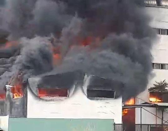 Công ty ở Bình Dương chìm trong khói lửa, nhiều công nhân bị mắc kẹt - Ảnh 6.