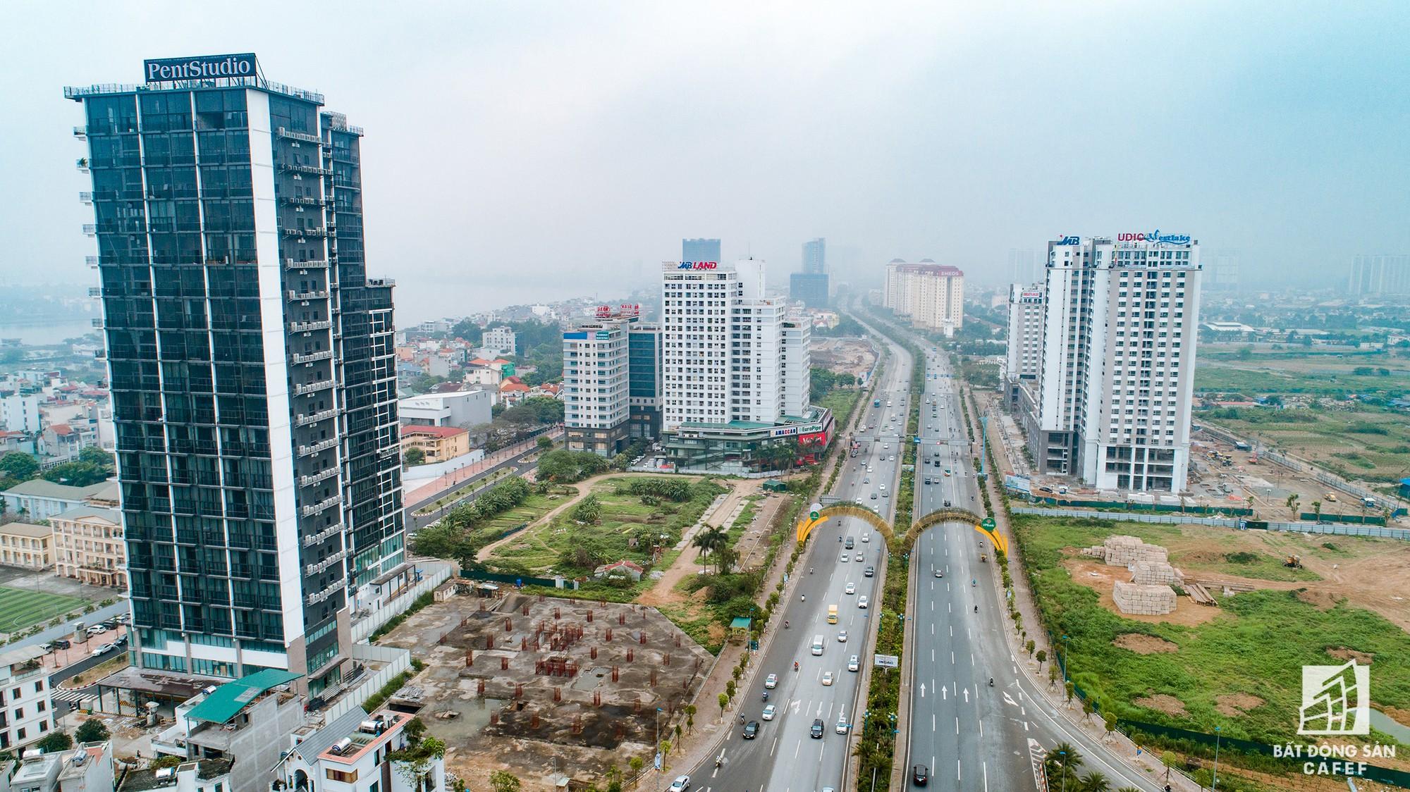 Cận cảnh hàng loạt dự án cao ốc dọc trục đường 8 làn xe tại trung tâm Hà Nội - Ảnh 4.