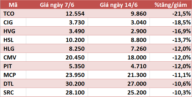 10 cổ phiếu tăng/giảm mạnh nhất tuần: Nhóm vừa và nhỏ vẫn hút dòng tiền - Ảnh 2.
