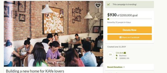Đào Chi Anh gọi vốn cộng đồng 200.000 USD để xây dựng lại The KAfe - Ảnh 1.
