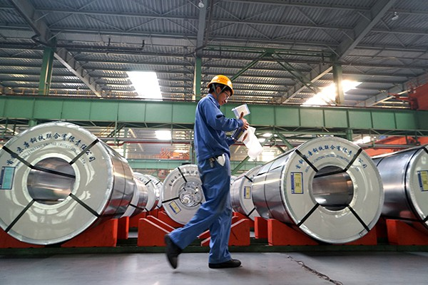 Giá thép xây dựng lên đỉnh gần 8 năm, thép cuộn cán nóng tại Trung Quốc tăng kỷ lục - Ảnh 1.
