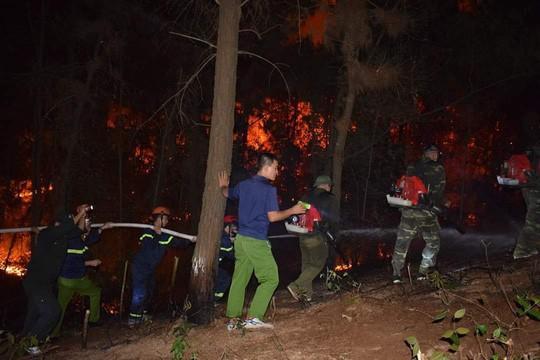 Clip: Núi Hồng Lĩnh thành biển lửa, di dời dân khẩn cấp  - Ảnh 16.