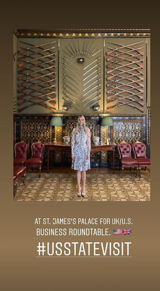 Ngày thứ 3 tại Anh, Ivanka Trump tiếp tục làm chao đảo giới truyền thông, lấn át cả gia đình Hoàng gia bằng màn thể hiện xuất chúng - Ảnh 2.