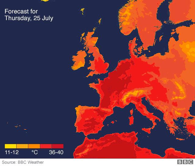 Giao thông đình trệ ở châu Âu vì sóng nhiệt kỷ lục - Ảnh 2.