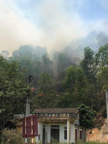 Đang cháy lớn tại núi Nầm Hà Tĩnh - Ảnh 2.