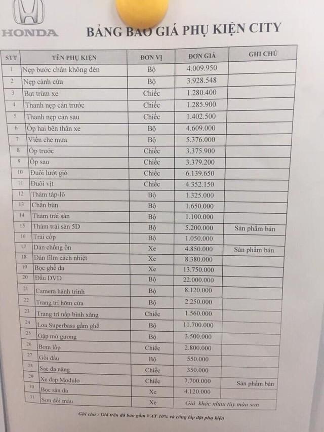 Hét giá phụ kiện đắt hơn gấp 10 lần bên ngoài - Bóc mẽ chiêu trò đại lý ô tô qua mặt khách Việt - Ảnh 6.