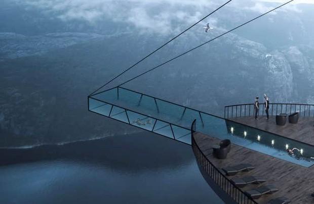 """Sốc: Na Uy """"nhá hàng"""" khách sạn nằm cheo leo trên vách đá cao hơn 600m, cư dân mạng tự hỏi """"ai mà dám ở""""? - Ảnh 7."""